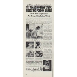 """1953 Lysol Ad """"No Poison Label"""""""
