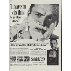 "1953 Schick Ad ""I have to do this"""
