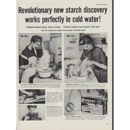 "1953 Niagara Starch Ad ""works perfectly"""