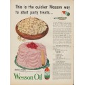 "1953 Wesson Oil Ad ""start party treats"""
