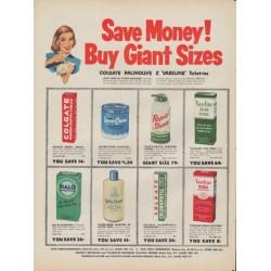 "1953 Colgate Ad ""Colgate Palmolive & Vaseline"""