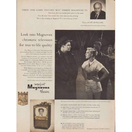 "1953 Magnavox Ad ""chromatic television"""