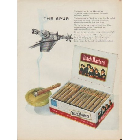 """1953 Dutch Masters Ad """"The Spur"""""""