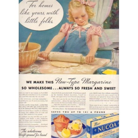 "1937 Nucoa Margarine Ad ""Little Folks"""