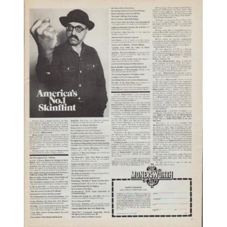 "1971 Moneysworth Magazine Ad ""America's No. 1 Skinflint"""