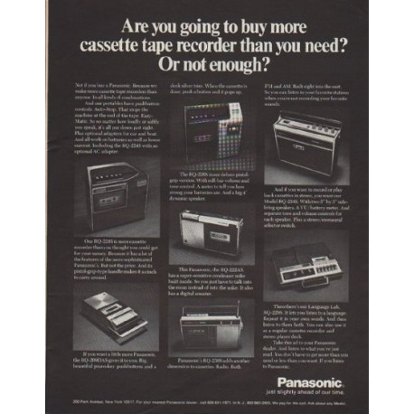 """1971 Panasonic Ad """"Are you going to buy more"""""""