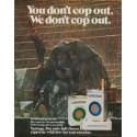 """1971 Vantage Cigarettes Ad """"You don't cop out"""""""