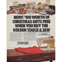 "1971 Singer Sewing Machine Ad ""Christmas Gifts"""