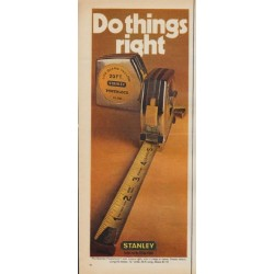 "1971 Stanley Ad ""Do things right"""
