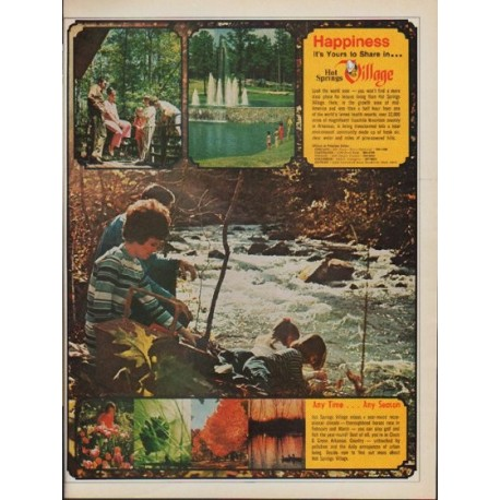 """1971 Hot Springs Village Ad """"Happiness"""""""