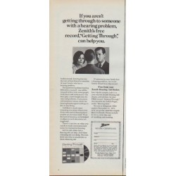 "1971 Zenith Hearing Aid Ad ""Getting Through"""