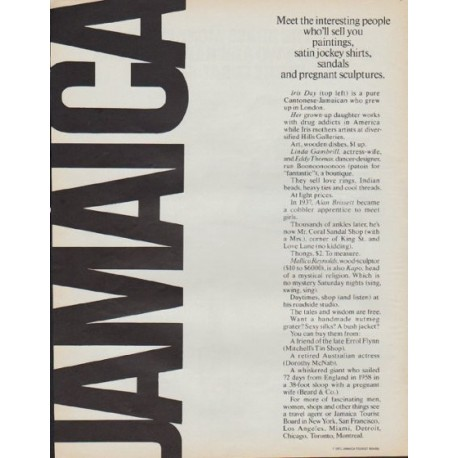 "1971 Jamaica Tourist Board Ad ""Meet the interesting people"""