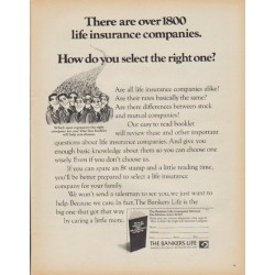 "1971 Bankers Life Company Ad ""over 1800 life insurance companies"""