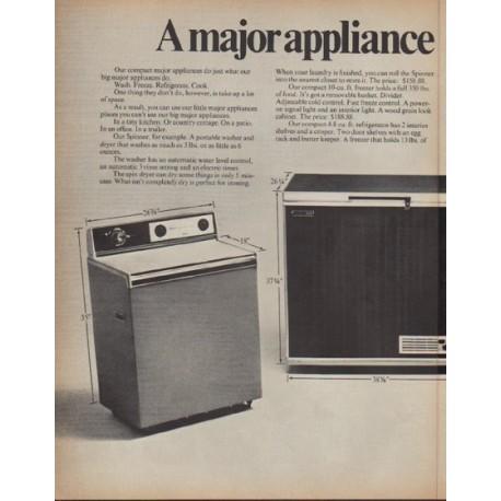 "1971 Montgomery Ward Ad ""A major appliance"""
