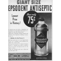 "1937 Pepsodent Antiseptic Ad ""Giant Size"""