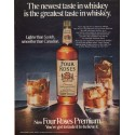 """1971 Four Roses Whiskey Ad """"The newest taste"""""""