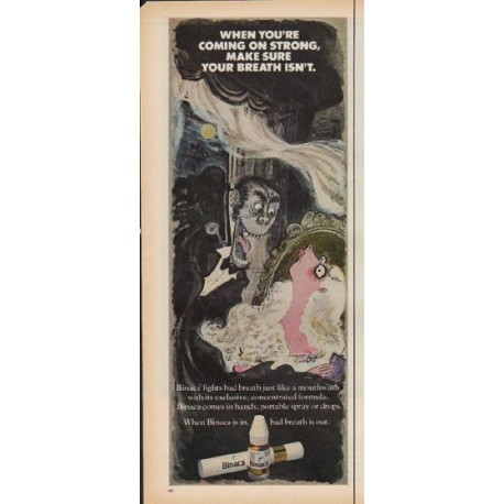 "1971 Binaca Ad ""Coming On Strong"""