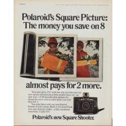 "1971 Polaroid Ad ""Square Picture"""