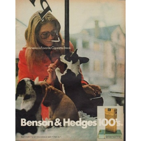"1971 Benson & Hedges Cigarettes Ad ""Cigarette Break"""
