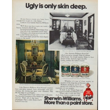 "1971 Sherwin-Williams Ad ""Ugly is only skin deep."""