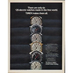 "1971 Timex Ad ""There are only six"""