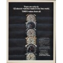 """1971 Timex Ad """"There are only six"""""""