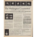 "1971 Wellington Jewels Ad ""The Wellington Counterfeit"""