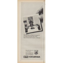 "1971 Sylvania Flashbulbs Ad ""More pictures of thanks"""