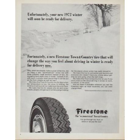 "1971 Firestone Ad ""your new 1972 winter"""