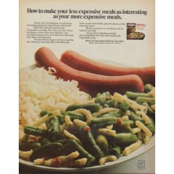 "1971 Birds Eye Ad ""less expensive meals"""