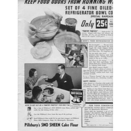 """1937 Pillsbury Cake Flour Ad """"Running Wild"""""""