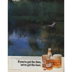 "1971 Miller Beer Ad ""If you've got the time"""