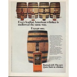 "1971 Barton's Whiskey Ad ""Every leading American whiskey"""
