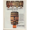 """1971 Barton's Whiskey Ad """"Every leading American whiskey"""""""