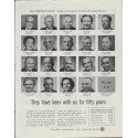 "1957 Bell Telephone System Ad ""been with us for fifty years"""
