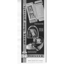 "1937 Pioneer Suspender Company Ad ""Presents"""