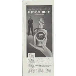"1957 Kings Men Ad ""treat him royally"""