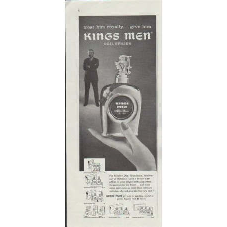 "1957 Kings Men Ad ""treat him royally"""