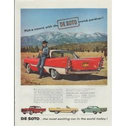 "1957 De Soto Ad ""Pick a mount"""