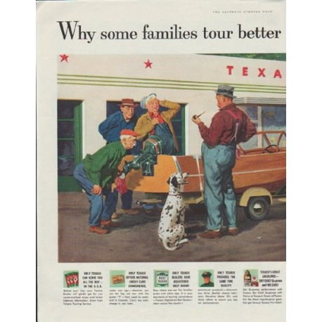 "1957 Texaco Ad ""Why some families tour better than others"""