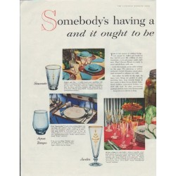 "1957 Owens-Illinois Ad ""Somebody's having a Party"""