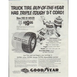"1957 Goodyear Tires Ad ""Triple-Tough"""