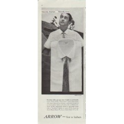 "1957 Arrow Shirt Ad ""Naturally American"""