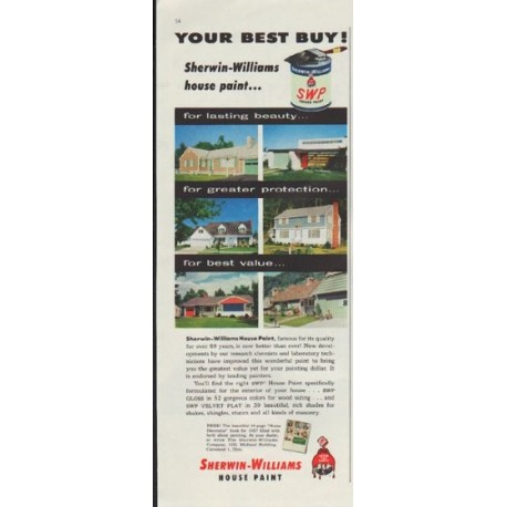 "1957 Sherwin-Williams Ad ""Your Best Buy!"""