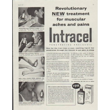 "1957 Intracel Ad ""Revolutionary New Treatment"""