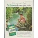 "1957 Salem Cigarettes Ad ""refreshes your taste"""