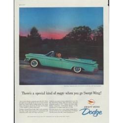 "1957 Dodge Ad ""special kind of magic"""