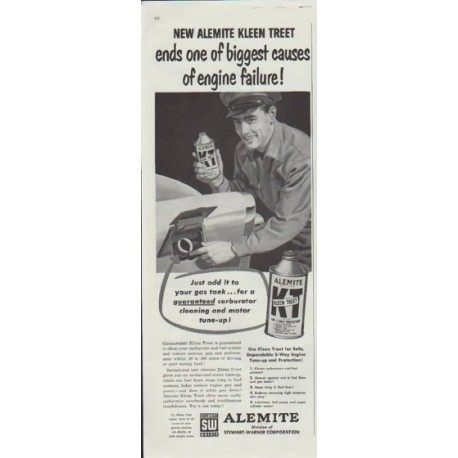 "1957 Alemite Ad ""New Alemite Kleen Treet"""
