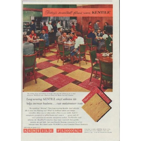 "1957 Kentile Floors Ad ""Today's smartest floors"""