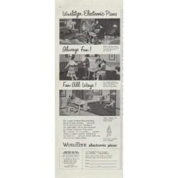"""1957 Wurlitzer Ad """"Wurlitzer Electronic Piano"""""""